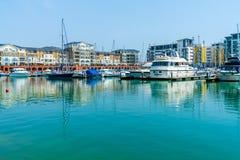 Puerto soberano en Eastbourne, Sussex del este, Reino Unido fotos de archivo libres de regalías