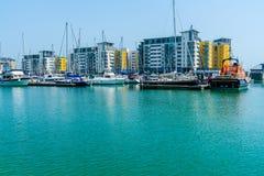 Puerto soberano en Eastbourne, Sussex del este, Reino Unido imagenes de archivo