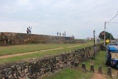 Puerto srilanqués de galla del lanzamiento de Fre foto de archivo