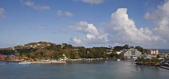 Puerto St Lucia de Castries foto de archivo libre de regalías
