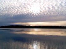 Puerto Stanley, Falkland Islands de la salida del sol Foto de archivo libre de regalías