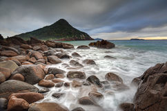 Puerto Stephens de la bahía del bajío del Mt Tomaree Fotos de archivo libres de regalías