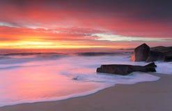 Puerto Stephens que brilla intensamente en salida del sol de la mañana Fotografía de archivo