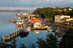Puerto Strahan Tasmania de Macquarie Imágenes de archivo libres de regalías