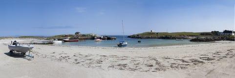 Puerto Tiree Escocia de Scarinish Imagen de archivo libre de regalías