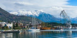 Puerto. Tivat, Montenegro Imágenes de archivo libres de regalías