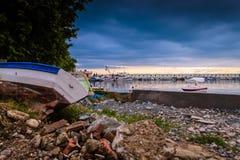 Puerto tranquilo antes de la tormenta Imagen de archivo