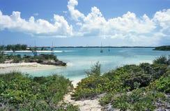 Puerto tropical abrigado Imagen de archivo