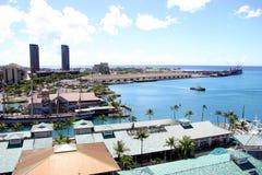 Puerto uno de Honolulu Imágenes de archivo libres de regalías