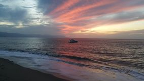 Заход солнца, Puerto Vallarta Мексика Стоковая Фотография RF
