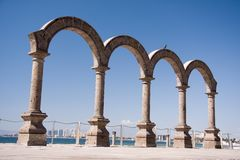 Puerto Vallarta. Arches on the Malecon Royalty Free Stock Image