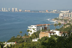 Puerto Vallarta with Bay of Banderas Royalty Free Stock Photos