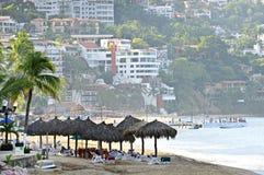 Puerto Vallarta beach, Mexico. Morning beach and ocean in Puerto Vallarta, Mexico Stock Photo