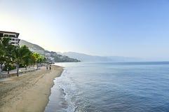 Puerto Vallarta beach, Mexico. Beach and Malecon on Pacific Ocean in Puerto Vallarta, Mexico Stock Photos