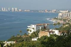 Puerto Vallarta con la bahía de Banderas fotos de archivo libres de regalías