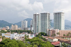 Puerto Vallarta Mexico. High rise buildings in Puerto Vallarta Mexico royalty free stock photos