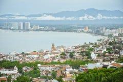 Puerto Vallarta, Mexico from bird view. Puerto Vallarta is a Mexican balneario resort city situated on the Pacific Ocean's Bahía de Banderas Stock Photos