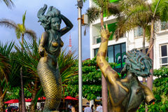 Puerto Vallarta, Mexico. Statues at Puerto Vallarta, Mexico Royalty Free Stock Photography