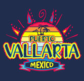 Puerto Vallarta Mexico - vector icon, emblem design Stock Photography