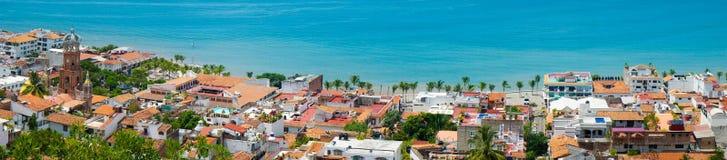 Puerto Vallarta. Panorama shot of Downtown Puerto Vallarta, Mexico Royalty Free Stock Photos