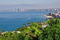 Puerto Vallarta van heuveltop Royalty-vrije Stock Afbeeldingen