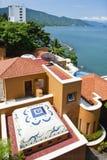 Puerto- Vallartaozeanhäuser Lizenzfreies Stockfoto