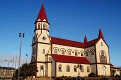 Puerto Varas.Chile教会  免版税图库摄影