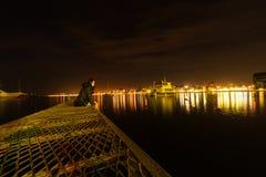 Puerto Varas Chile nachts stockbild