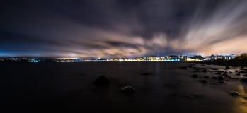Puerto Varas. City at night. Chile Royalty Free Stock Photos