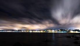 Puerto Varas. City at night, south Chile Stock Photo
