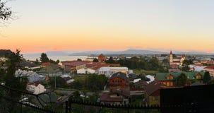Puerto Varas e lago del llanquihue, Patagonia, Cile Fotografie Stock Libere da Diritti