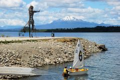 Puerto Varas,  Llanquihue Lake and snowcapped Vulcano Mt. Calbuco , Chile Royalty Free Stock Photography