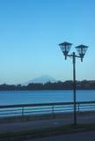 Puerto Varas streetlamp. Streetlamp, Puerto-Varas, Chile, lake, volcano, Llanquihue, osorno Royalty Free Stock Photo