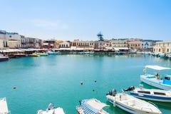 Puerto veneciano de Rethymno fotografía de archivo libre de regalías