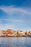 Puerto veneciano en Chania Fotos de archivo libres de regalías