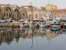 Puerto veneciano en Chania imagen de archivo