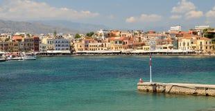 Puerto veneciano en Chania Grecia Imágenes de archivo libres de regalías