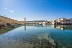 Puerto veneciano viejo de Rethimno, Creta imagen de archivo libre de regalías