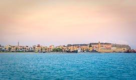 Puerto veneciano viejo de Rethimno, Creta fotos de archivo