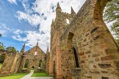 Puerto viejo Arthur Tasmania de la iglesia del convicto Fotografía de archivo libre de regalías