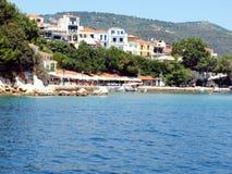 Puerto viejo, ciudad de Skiathos, Skiathos Foto de archivo