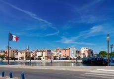 Puerto viejo con los barcos Martigues, Provence, Francia Fotografía de archivo