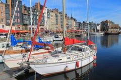 Puerto viejo de Honfleur, Francia Fotografía de archivo libre de regalías