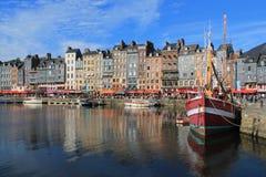 Puerto viejo de Honfleur, Francia Fotos de archivo libres de regalías