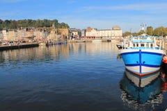 Puerto viejo de Honfleur, Francia Imagenes de archivo