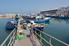Puerto viejo de la ciudad de Jaffa en el teléfono Aviv Jaffa - Israel Foto de archivo