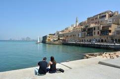 Puerto viejo de la ciudad de Jaffa en el teléfono Aviv Jaffa - Israel Imágenes de archivo libres de regalías