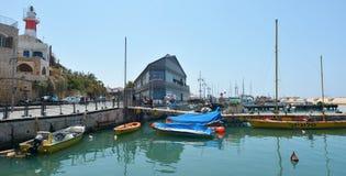 Puerto viejo de la ciudad de Jaffa en el teléfono Aviv Jaffa - Israel Imagen de archivo libre de regalías