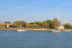 Puerto viejo de La Rochelle, Francia Imagen de archivo libre de regalías