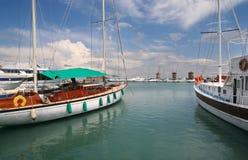 Puerto viejo de Rhodos Imagen de archivo